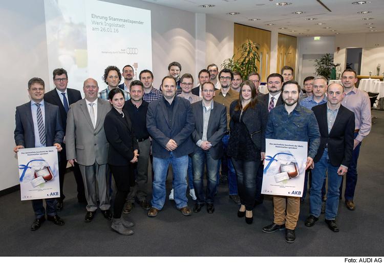 Audi Ehrt Stammzellenspender Ingolstadt Reporter