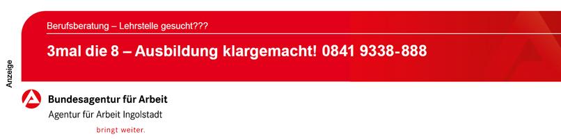 Agentur für Arbeit Ingolstadt - Azubis 2020 - Im Text